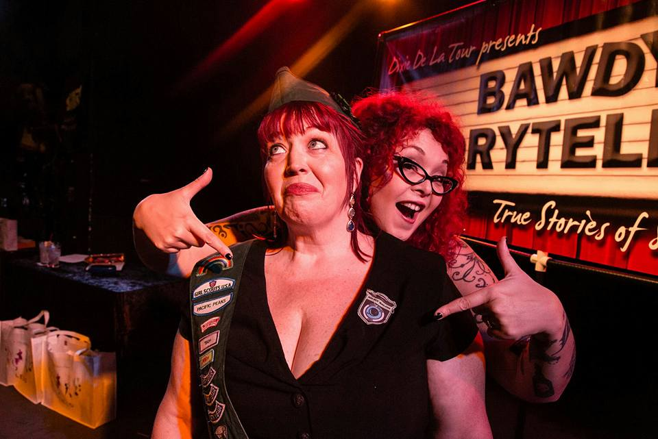 Dixie & Sunny at a Bawdy Storytelling show in Chicago. Photo by Benjy Feen.