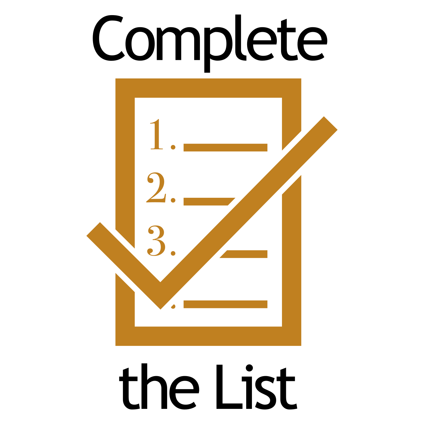 Complete The List show art