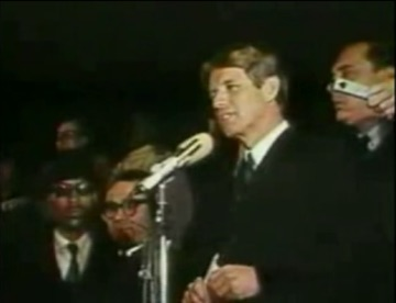 Robert Kennedy speech on Martin Luther King's Assassination show art