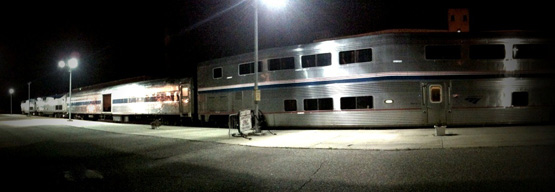 Amtrak's Empire Builder has a brief layover at the St. Paul-Minneapolis station
