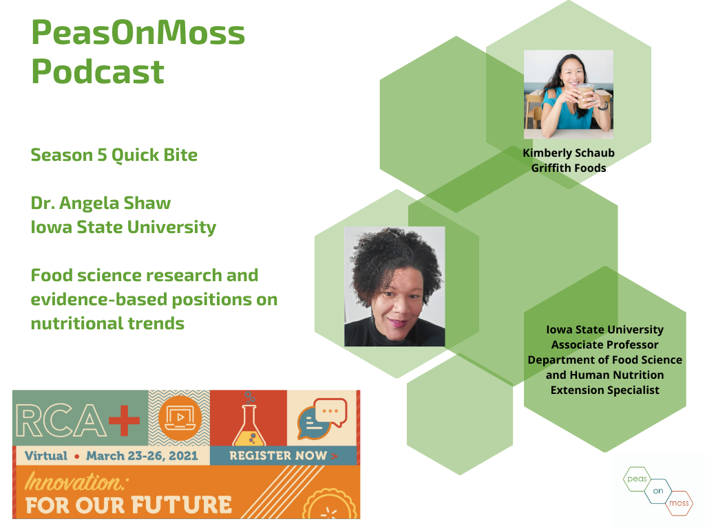PeasOnMoss Quick Bite: Dr. Angela Shaw on looking at both sides of a food science position