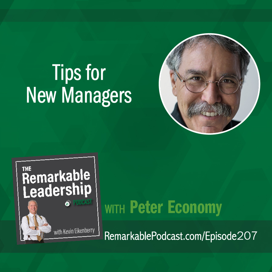 Tips for New Managers with Peter Economy show art