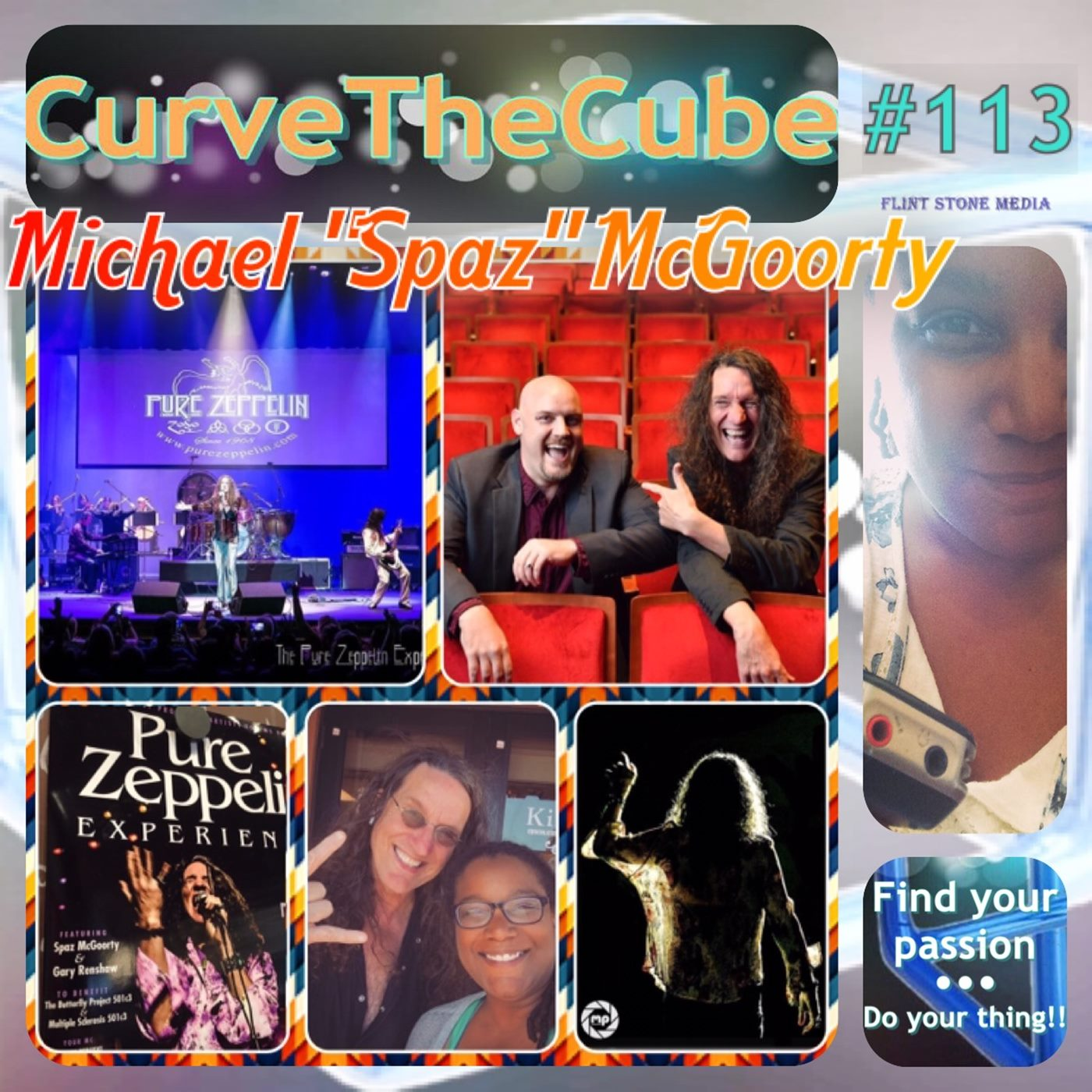 Entertainer Michael 'Spaz' McGoorty of the Pure Zeppelin Experience on the Curve the Cube Podcast