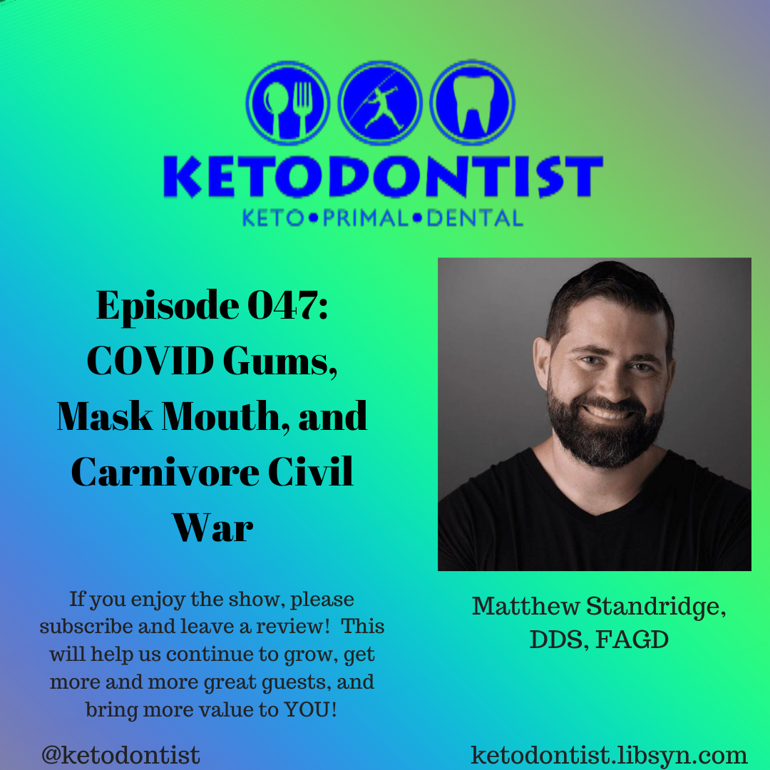 Artwork for KDP EP 047: COVID gums, Mask Mouth, and Carnivore Civil War