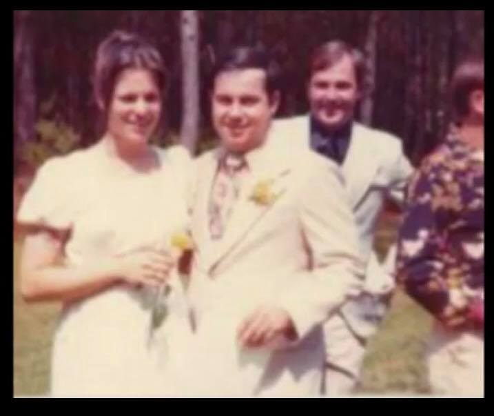 Jackie and William Brewer at their Wedding