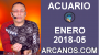 Artwork for ACUARIO ENERO 2018-05-28 Ene al 03 Feb 2018-Amor Solteros Parejas Dinero Trabajo-ARCANOS.COM