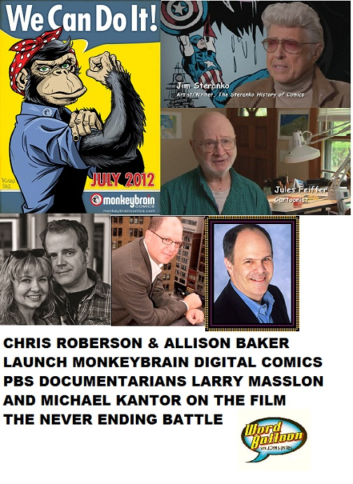 PBS Comic Book Documentary Never Ending Battle & MonkeyBrain Digital Comics With Roberson & Baker