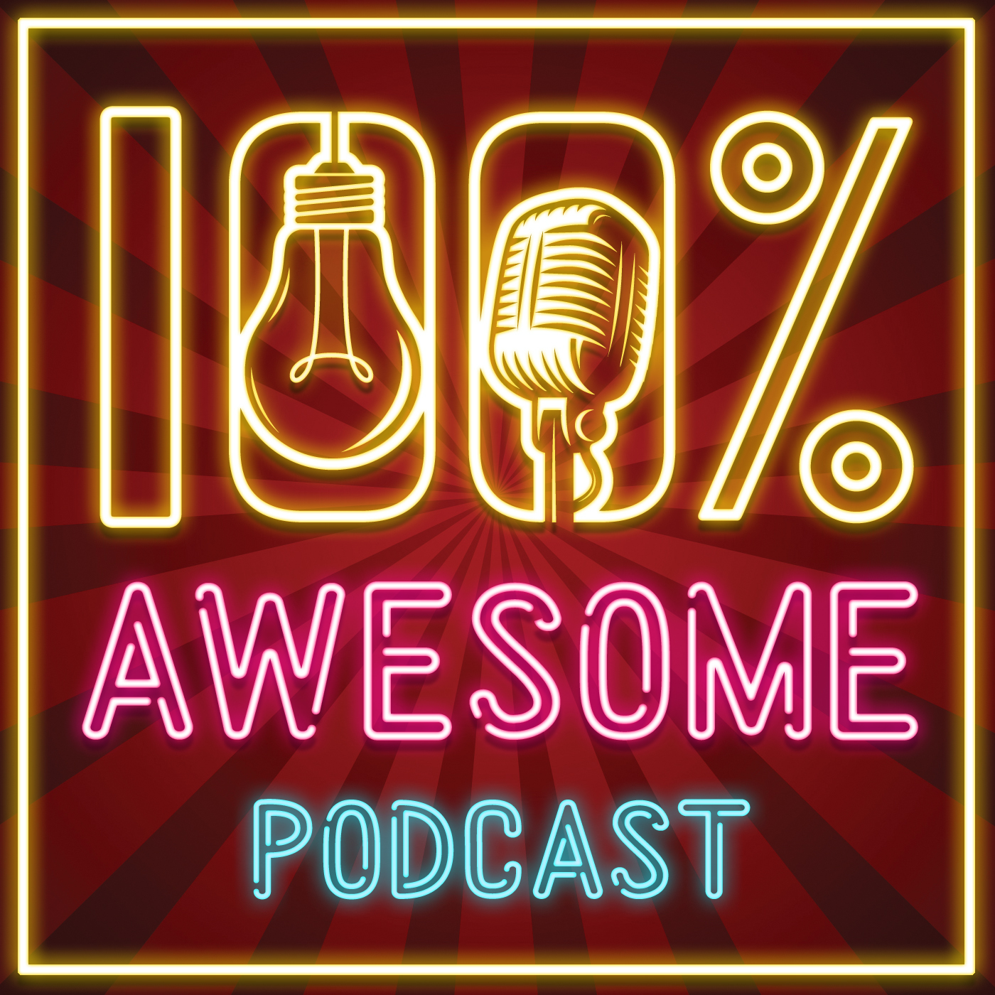 100% Awesome Podcast show art