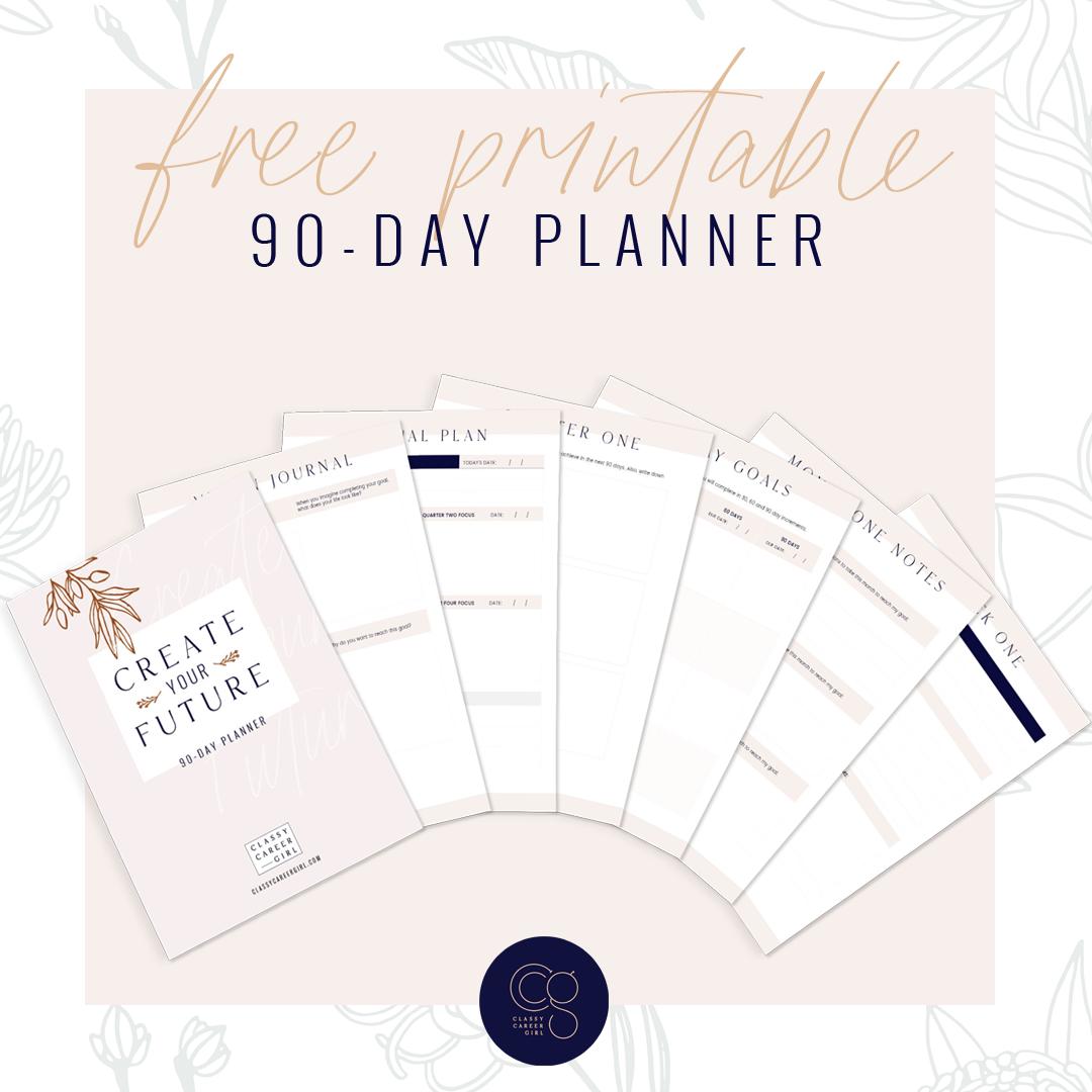 Classy Career Girl Free Printable Planner