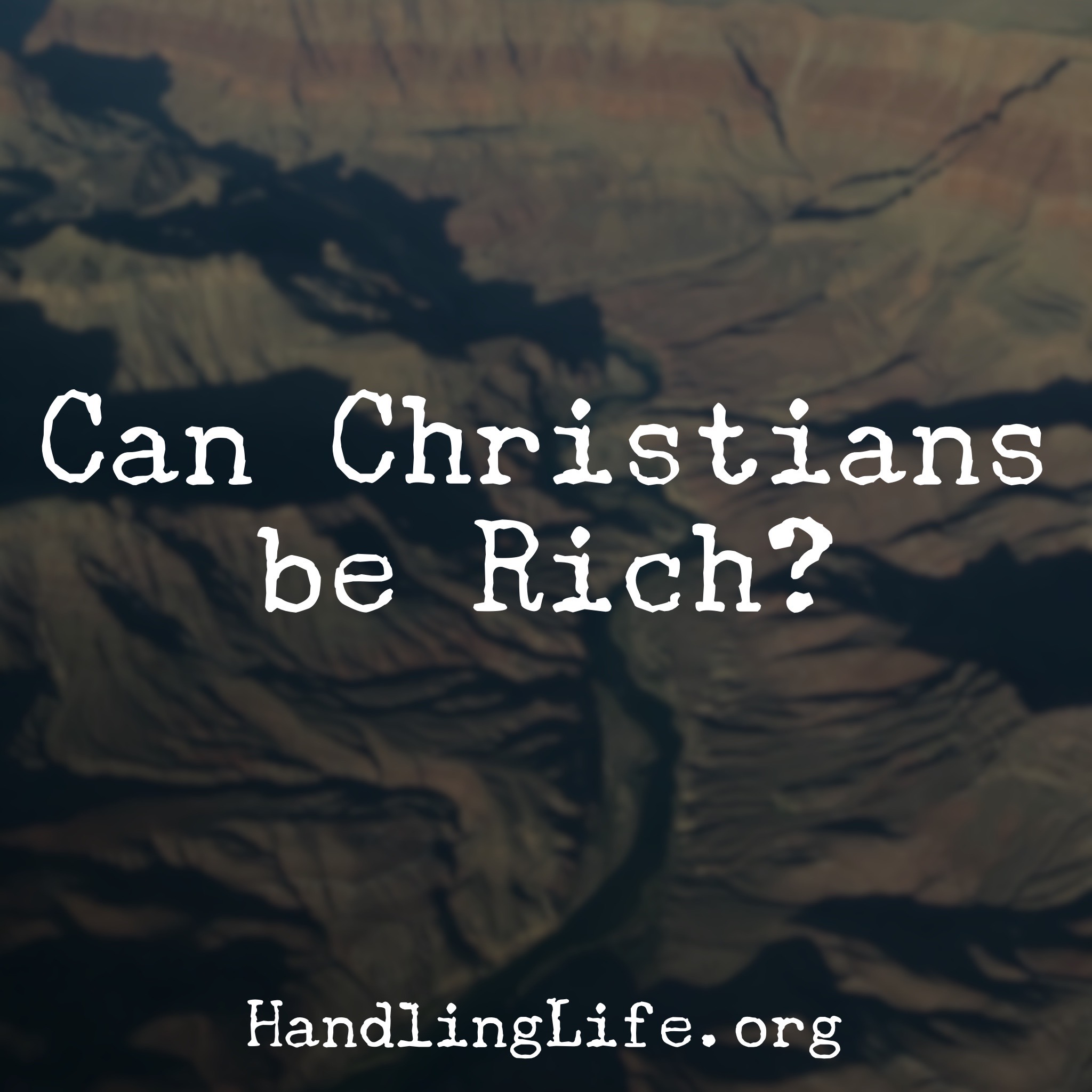 Artwork for Can Christians be Rich?