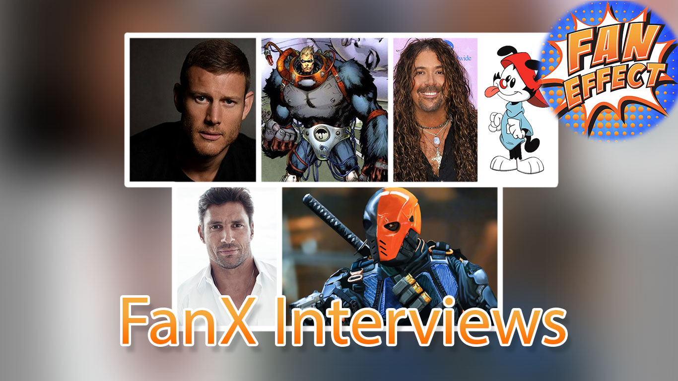 Artwork for Interviews from FanX to get you excited for The Umbrella Academy, and the Animaniacs
