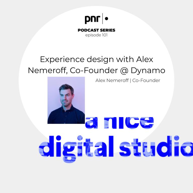 Experience design with Alex Nemeroff, Co-Founder @ Dynamo show art