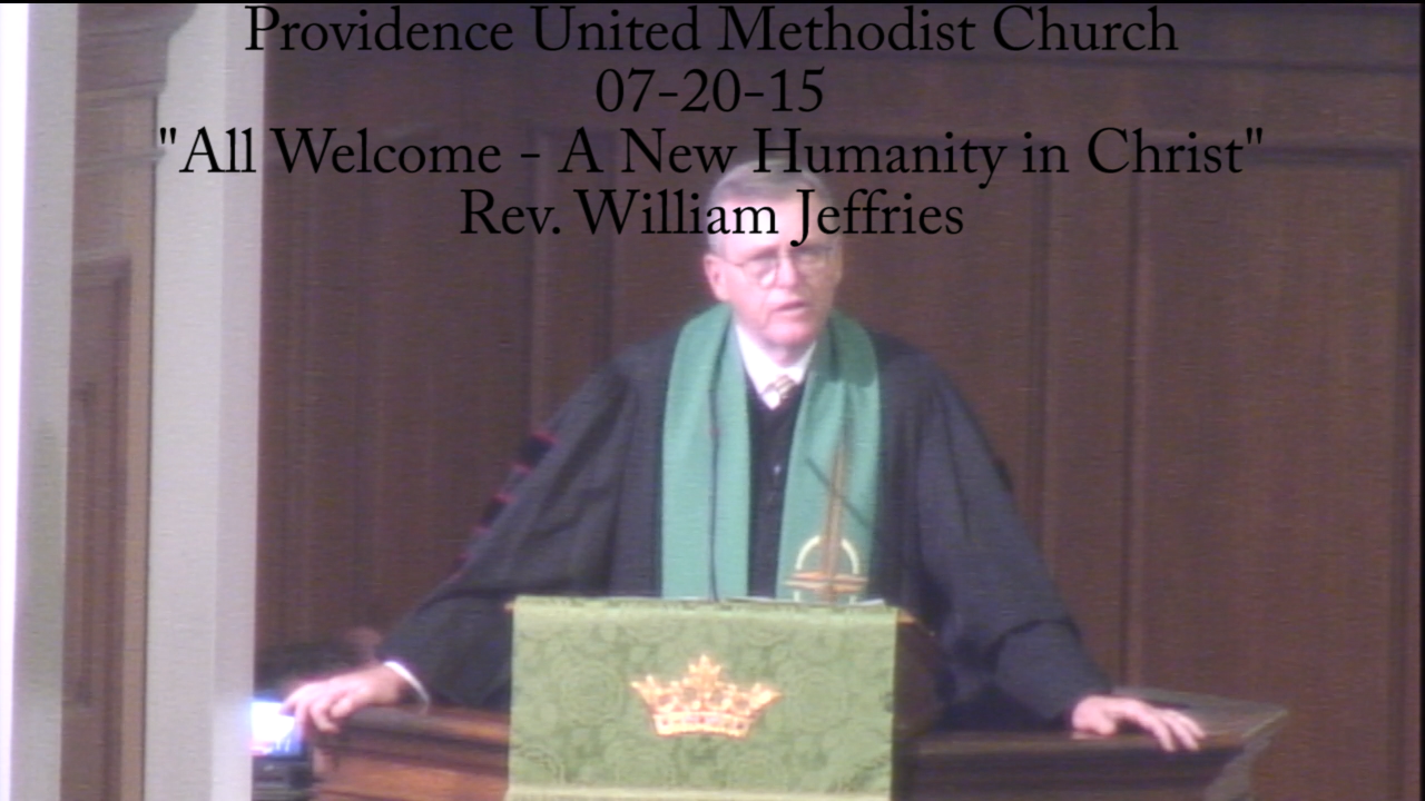 "Traditional Sermon ""All Welcome - A New Humanity in Christ"""