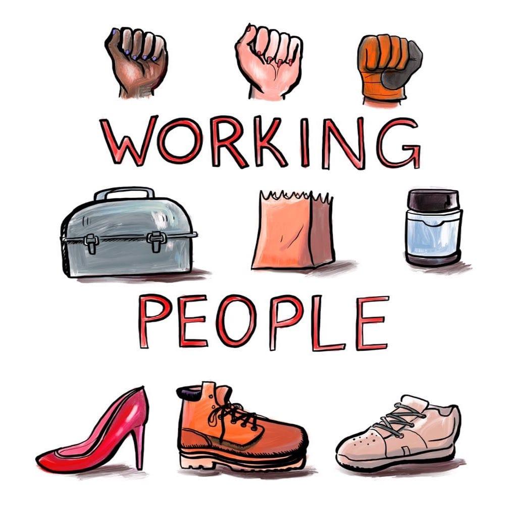 Working People show art