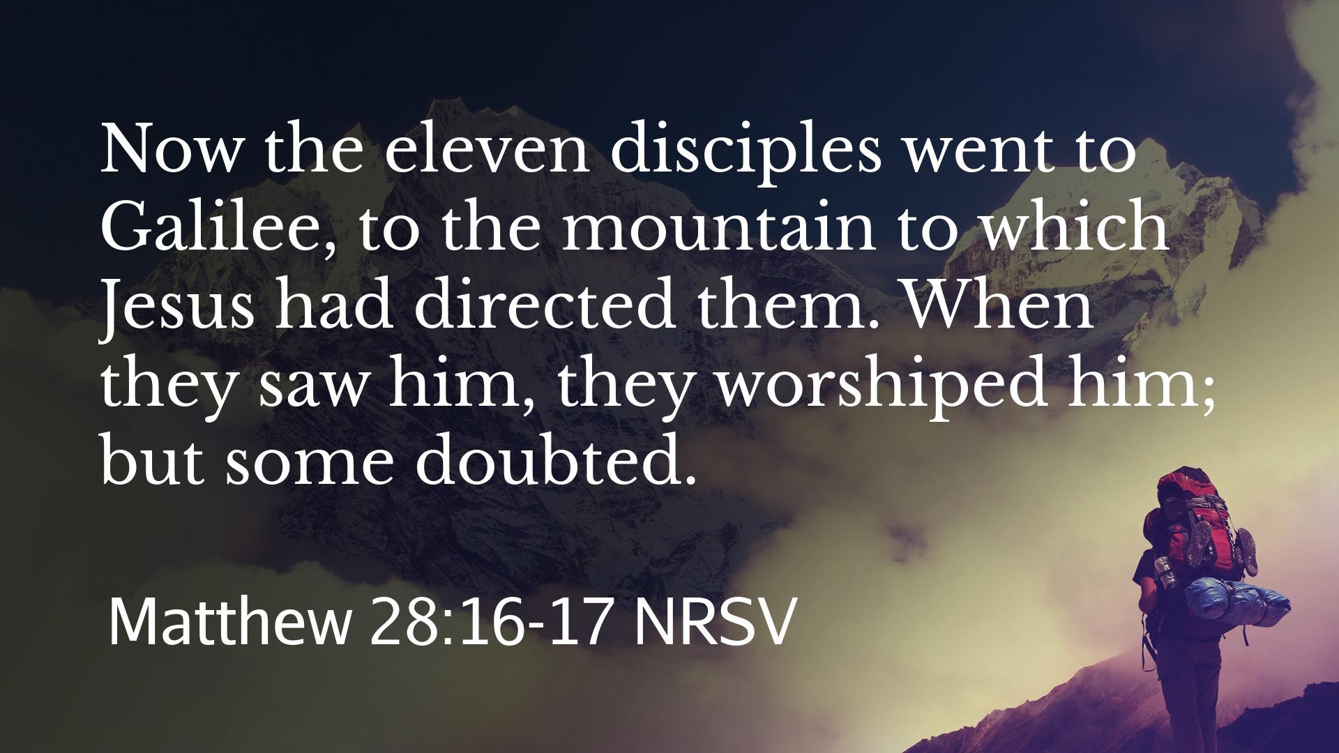 Matt 28.16-17