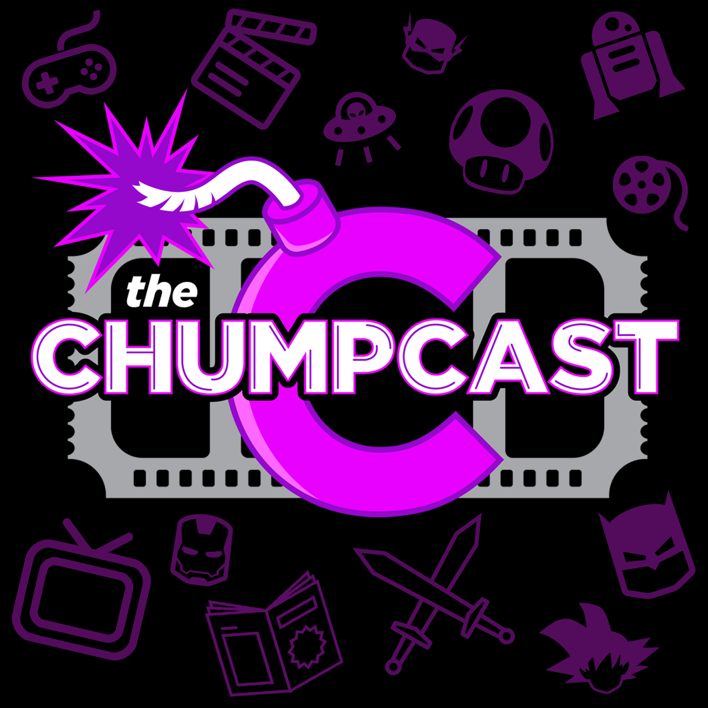 the Chumpcast   Nerd News & Movie Reviews show art