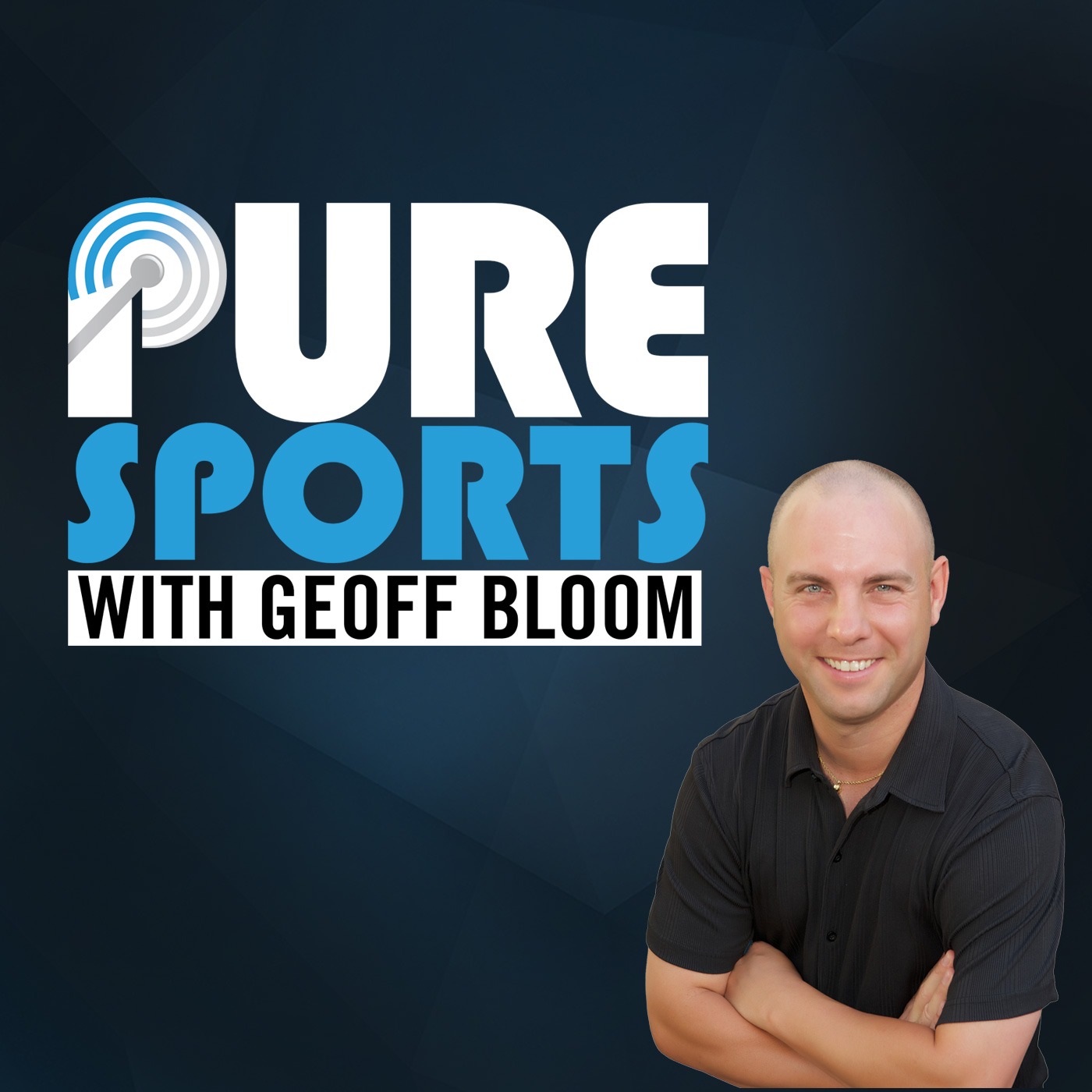 Pure Sports with Geoff Bloom show art