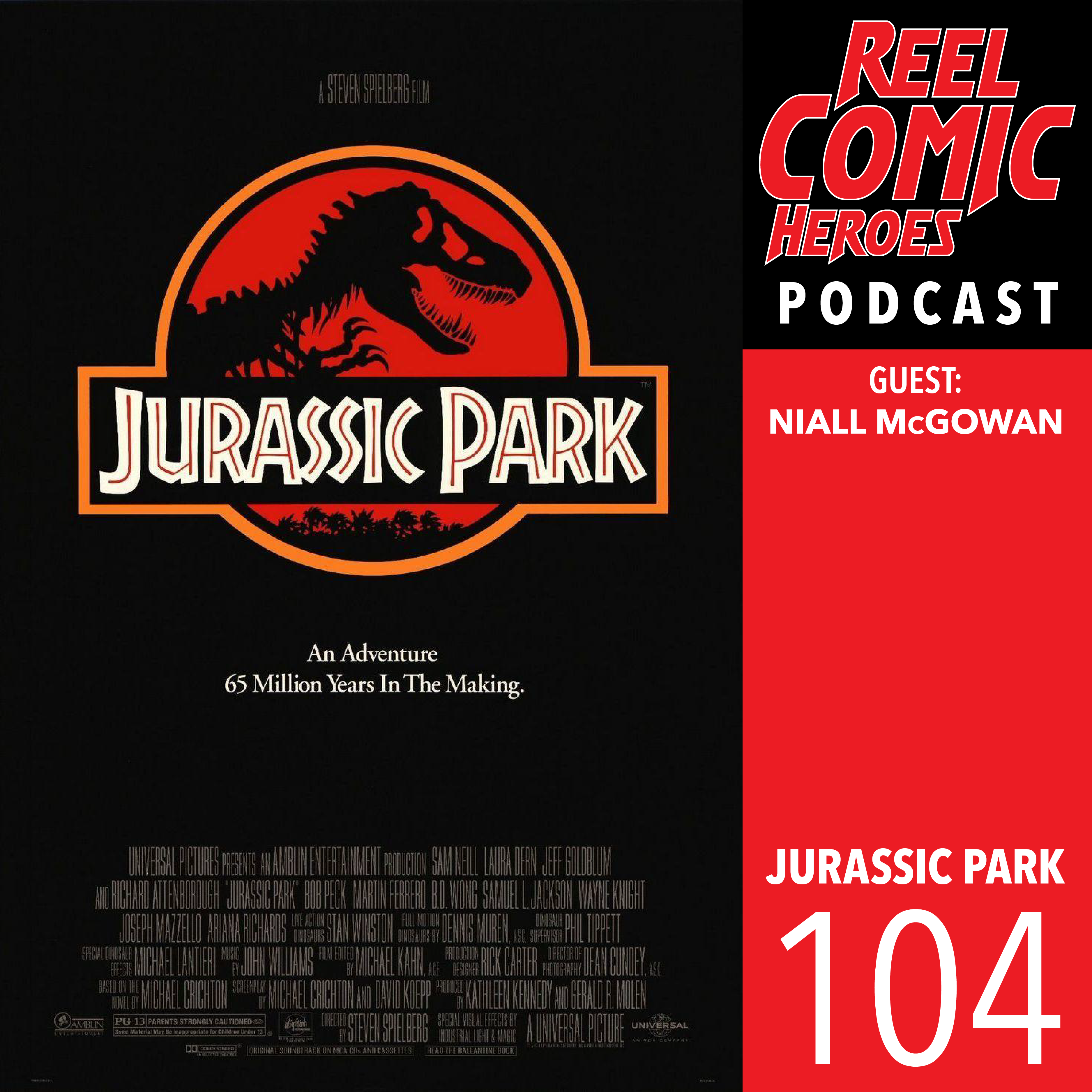 Artwork for 104 - Jurassic Park with Niall McGowan