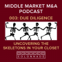 Artwork for MM M&A 003: Due Diligence - Uncovering the Skeletons in Your Closet