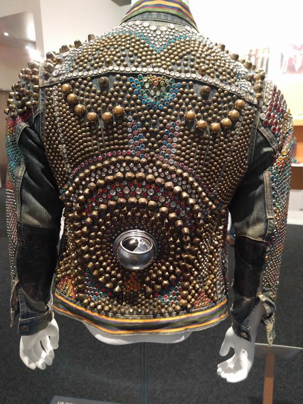 Studded denim jacket designed by Billy.