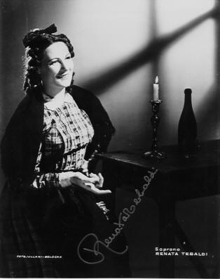 Renata Tebaldi in Boheme at Parma