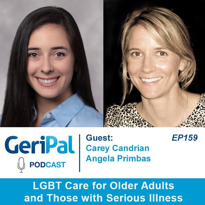 LGBT Care for Older Adults and Serious Illness: Podcast with Carey Candrian and Angela Primbas