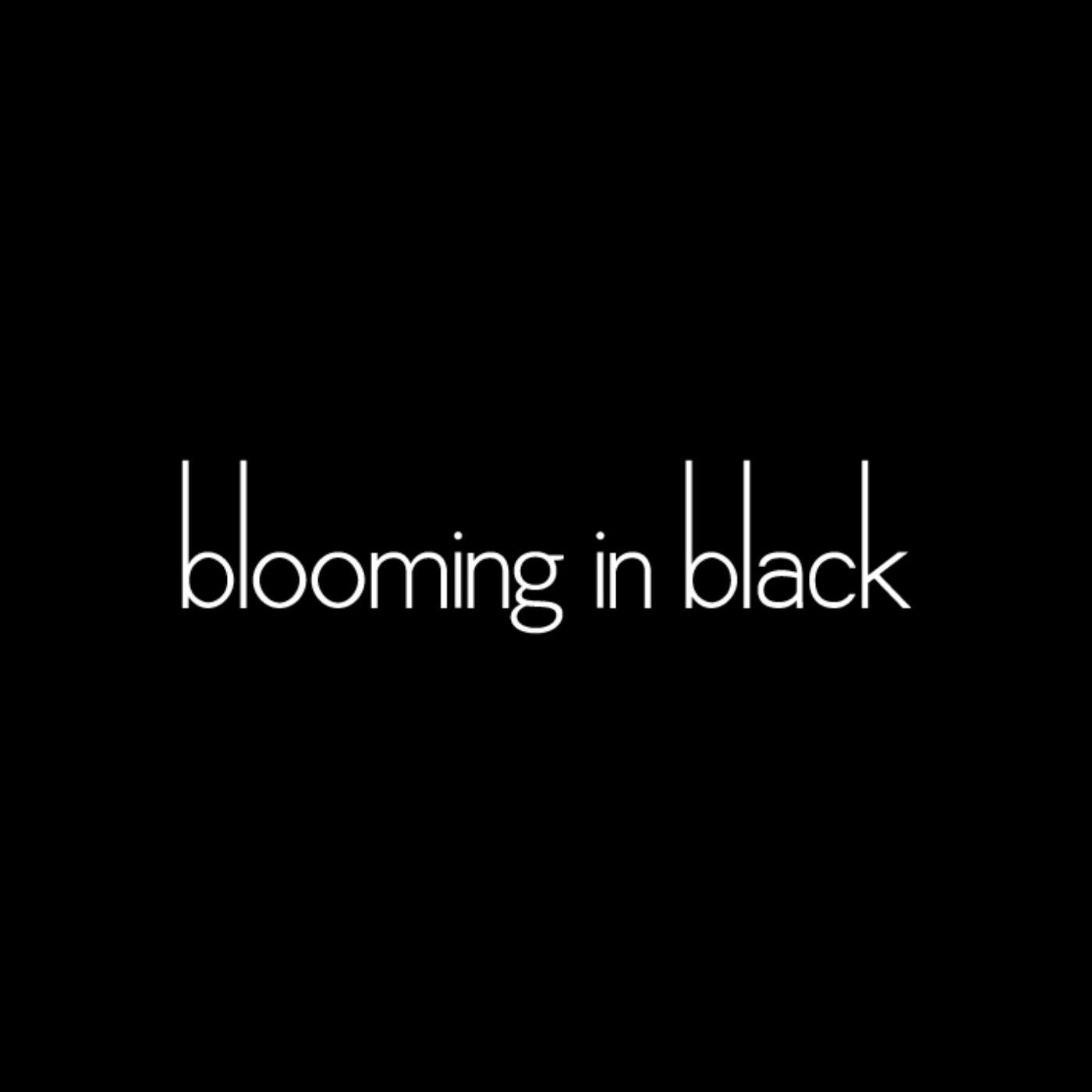 blooming in black show art