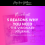 Artwork for Minisode #12: 5 Reasons Why You Need the Visionary Journal