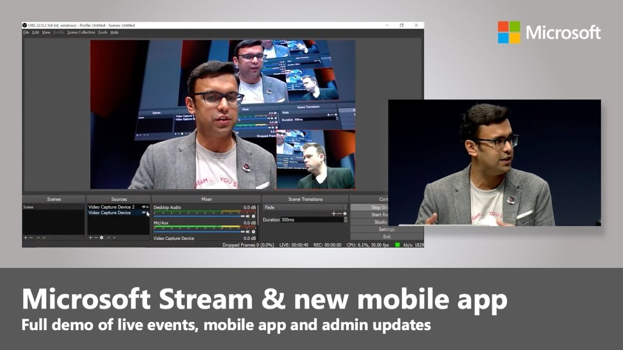 Artwork for Microsoft Stream live events, mobile app and admin updates | Best of Microsoft Ignite 2018