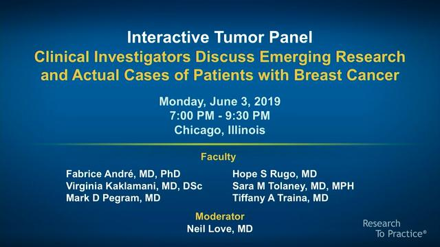 Artwork for Breast Cancer | Interactive Tumor Panel: Clinical Investigators Discuss Emerging Research and Actual Cases of Patients with Breast Cancer