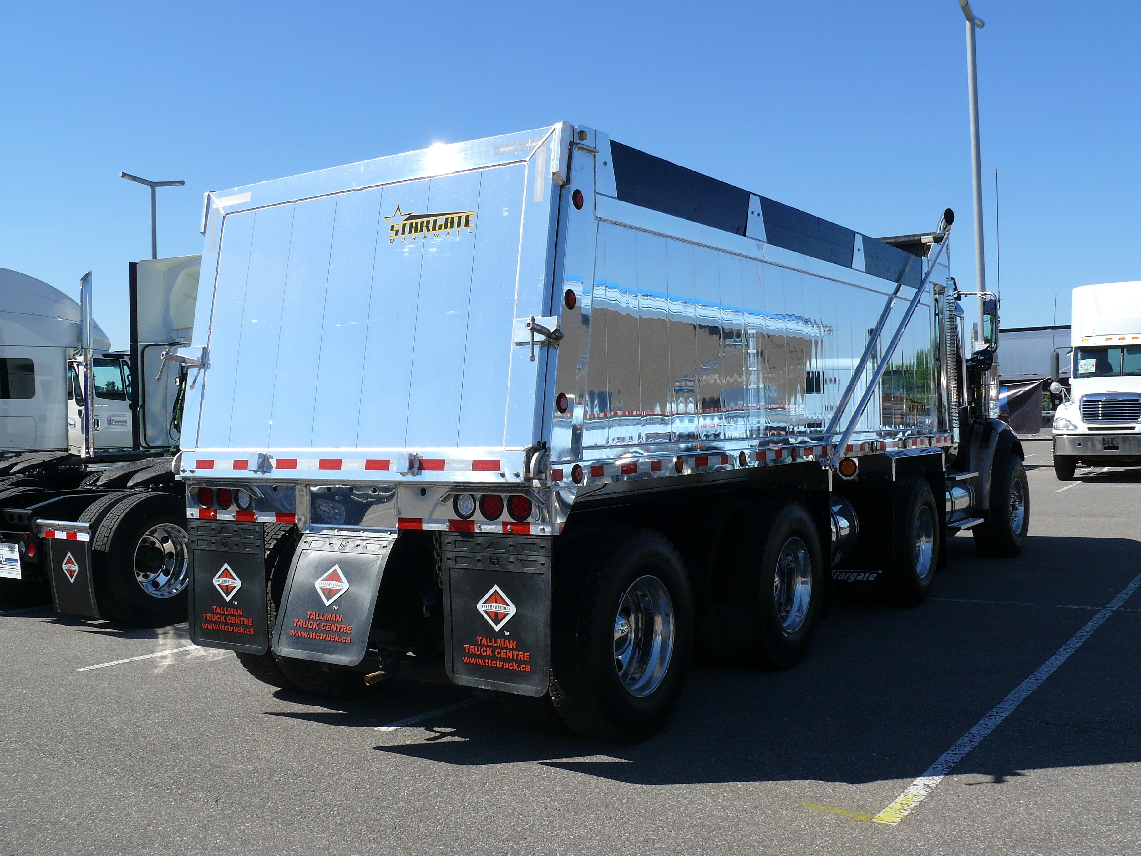 Chrome dump truck
