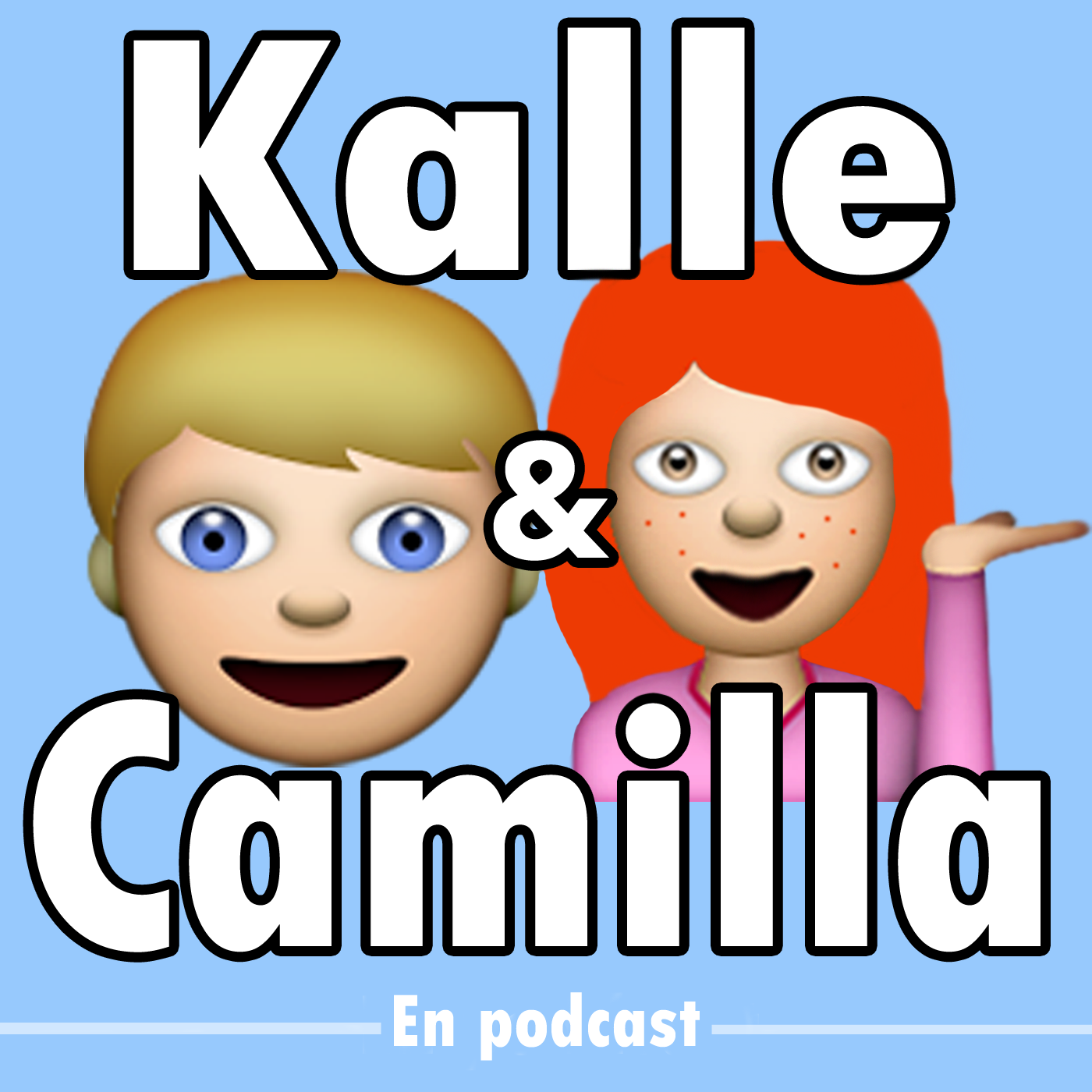 Kalle och Camilla - en podcast show art