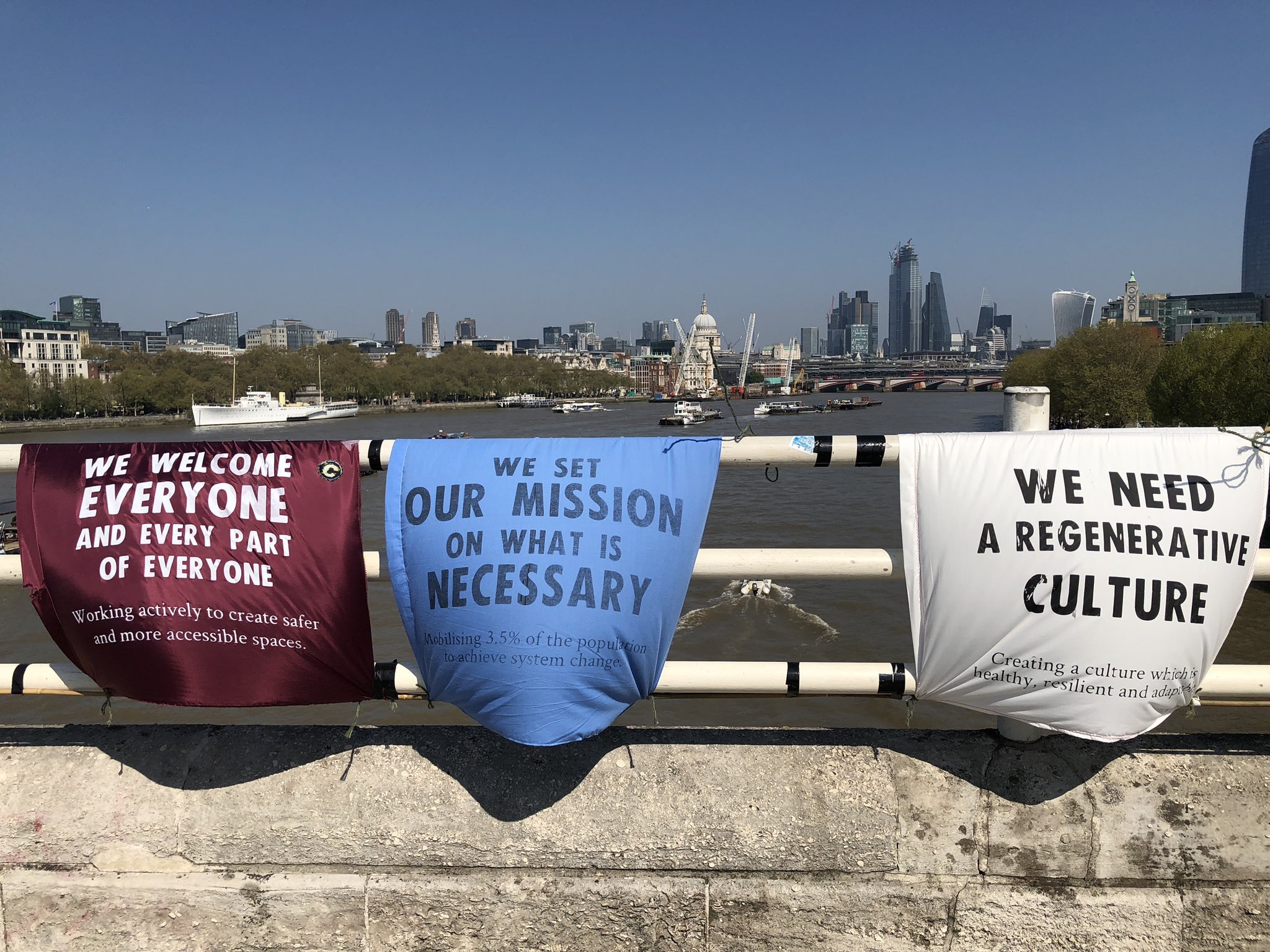 Extinction Rebellion Waterloo Bridge London