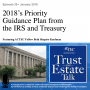 Artwork for 2018's Priority Guidance Plan from the IRS and Treasury