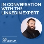 Artwork for In conversation with the Linkedin expert, Joe Apfelbaum. Boom!