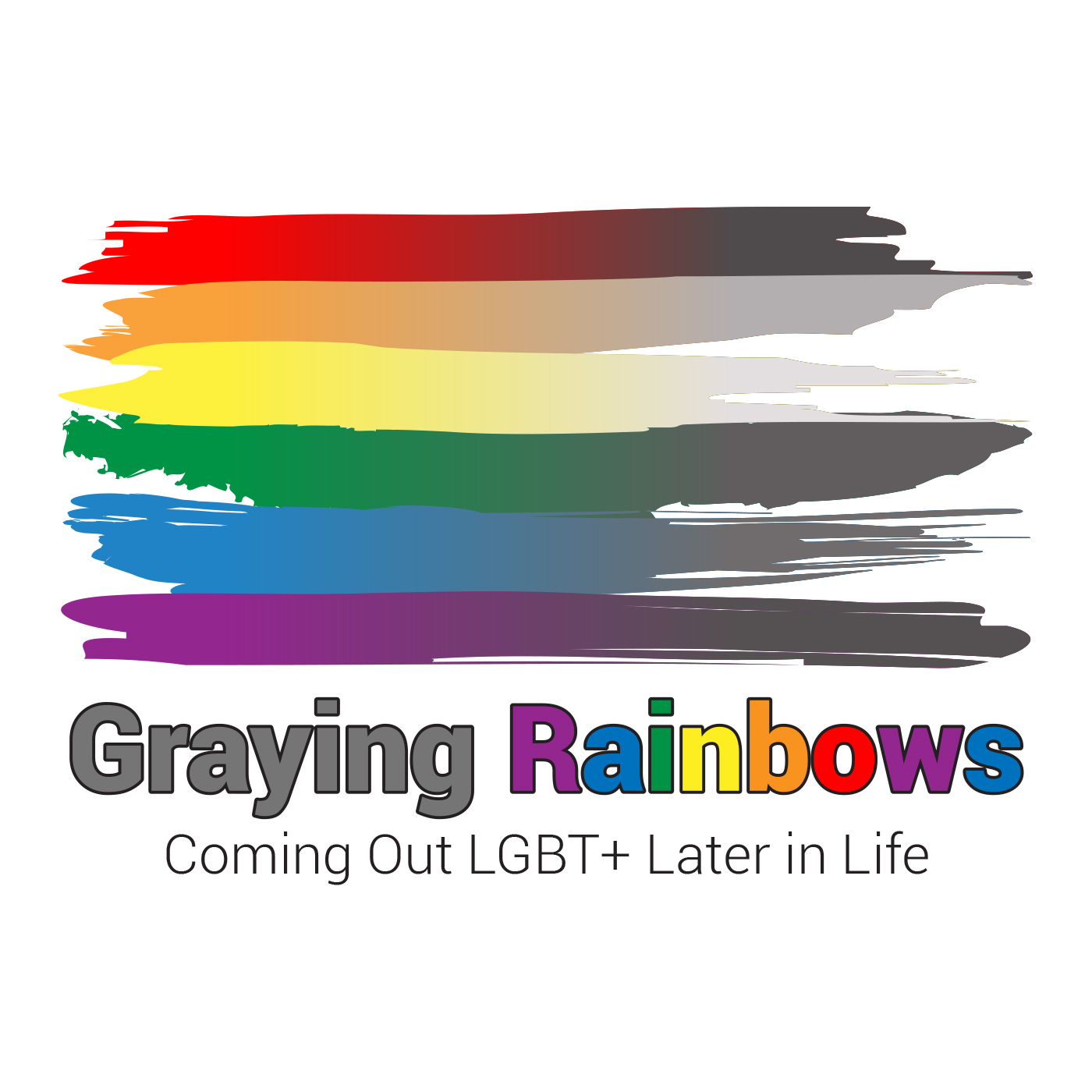Graying Rainbows Coming Out LGBT+ Later in Life show art