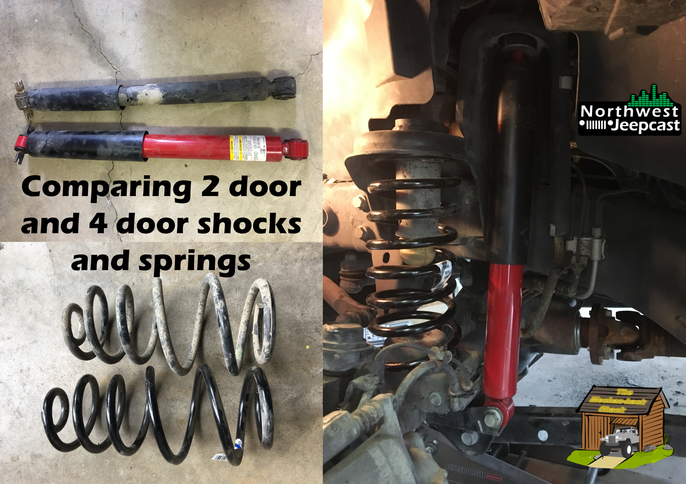 Northwest Jeepcast - A Jeep Podcast - 4 Door Shocks and Springs on a 2 Door
