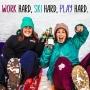 Artwork for Ep 16- Claire Almond. Work hard, Ski hard, Play hard.