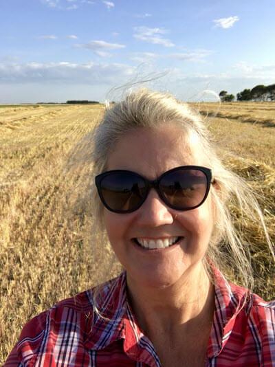 Lisa on the farm