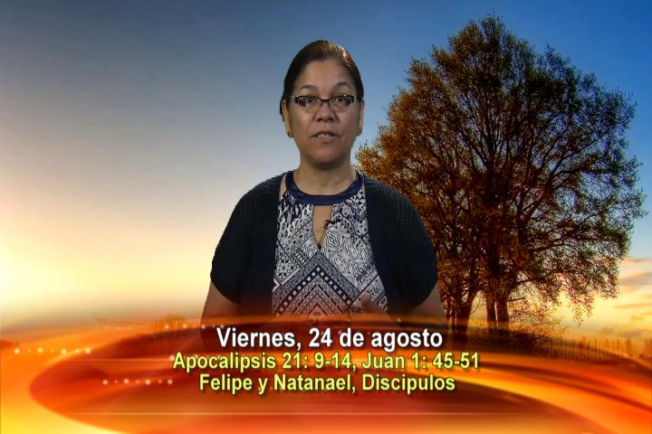 Artwork for Dios te Habla con Angela Valencia;   Tema el hoy: Felipe y Natanael, discipulos. Fiesta de San Bartolomé, Apóstol.