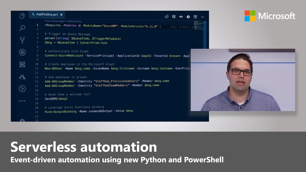 Artwork for Serverless automation with Python and PowerShell