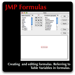 JMP Getting started with JMP Formulas