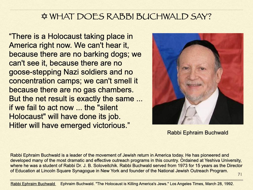 ✡︎ What Does Rabbi Buchwald SAY?
