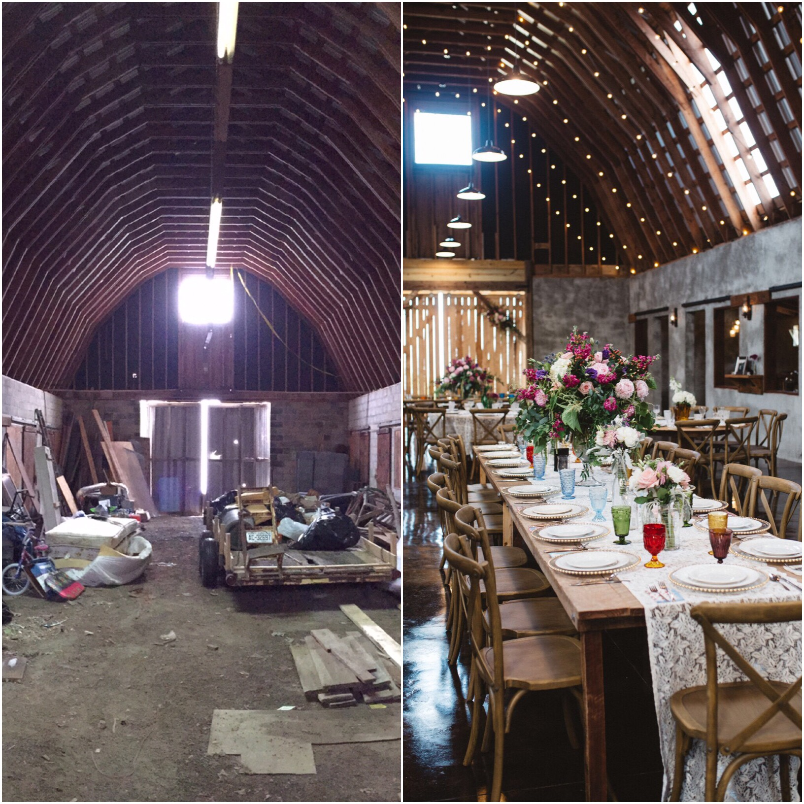 Overlook Barn Before and After