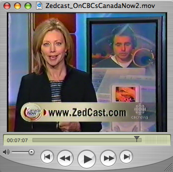 Zedcast 021b The Zedcast on CBC's Canada Now