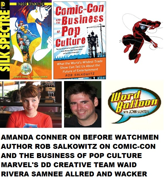Word Balloon Podcast Comic Book Business With Amanda Conner Author Rob Salkowitz and Marvel's Daredevil Team Waid Rivera Samnee Allred and Wacker