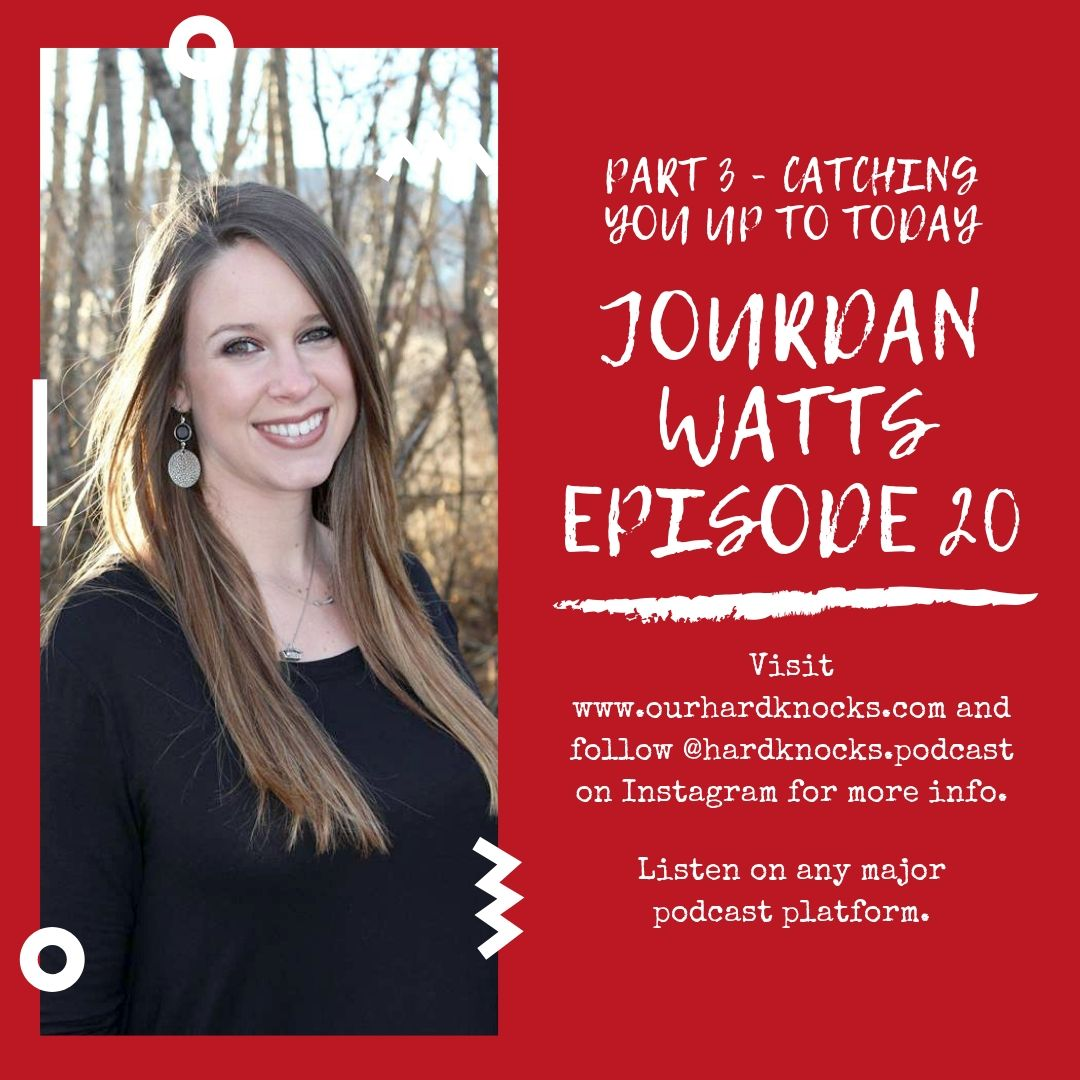 Episode 20: Jourdan Watts - Part 3, Catching You up to Today