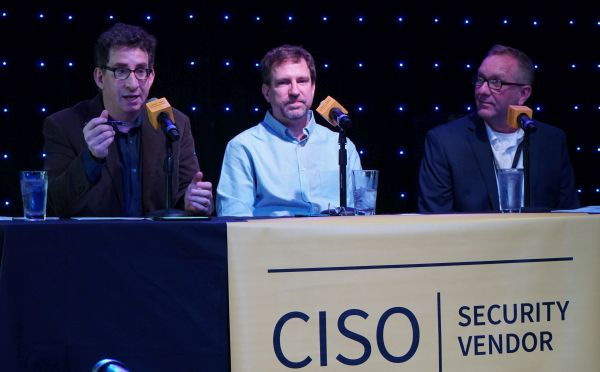David Spark and Allan Alford, co-hosts of Defense in Depth on the CISO Series network, and Dan Lohrmann, former CISO/CSO/CTO for the State of Michigan.