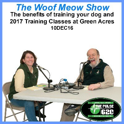 The benefits of training your dog and 2017 Training Classes at Green Acres