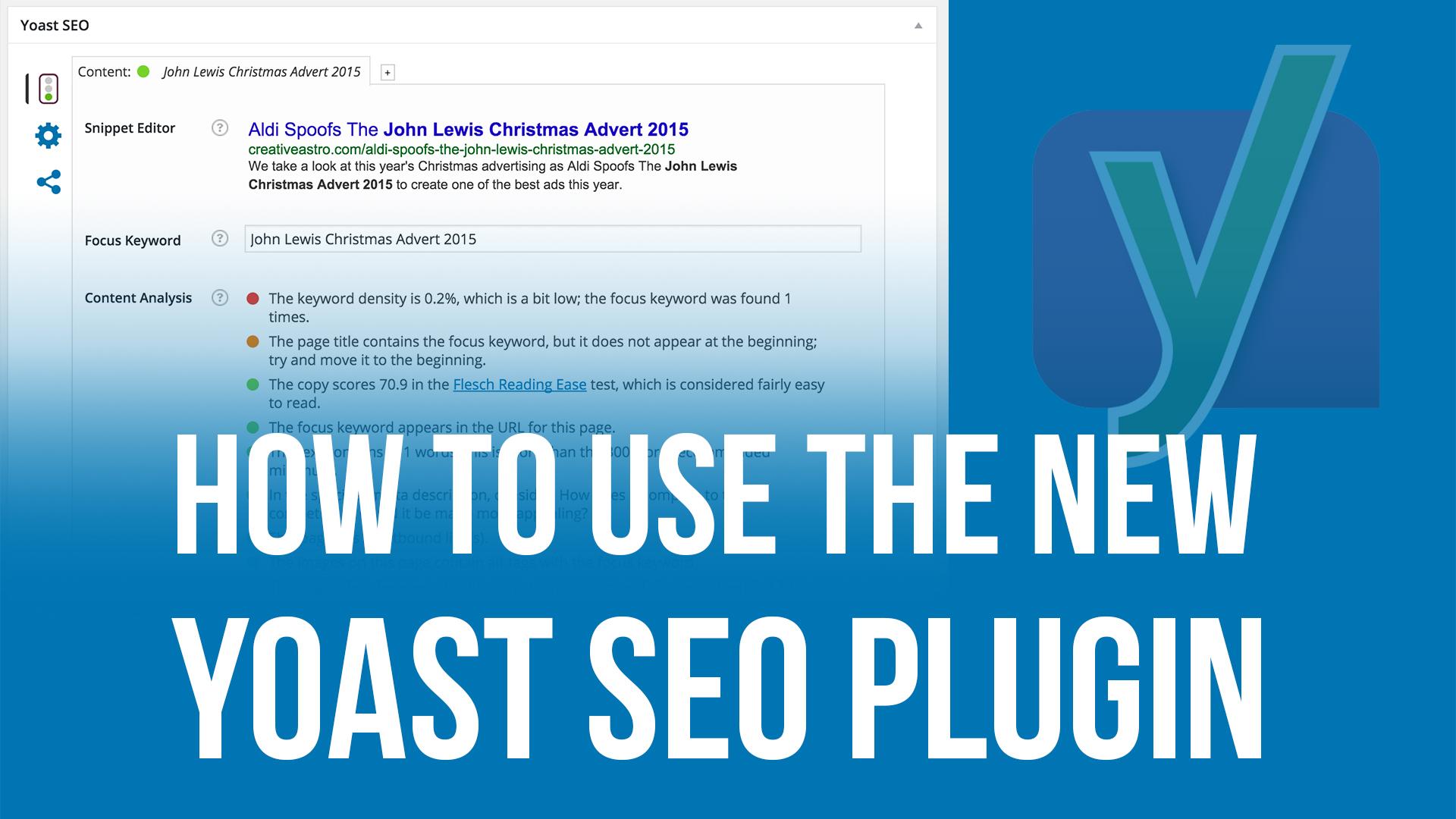 How to use the new yoast seo plugin